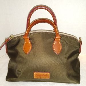 GREAT FOR GIFT GIVING CHOCOLATE NYLON SATCHEL